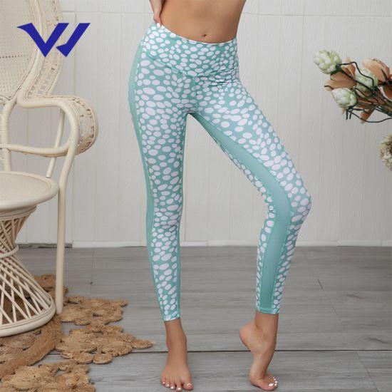 New Sexy Fashion Printing Stitching Leggings Yoga Fitness Sports Pants Women Yoga Pants