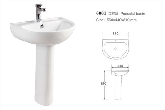 Ceramic Pedestal Sink (No. P01) pictures & photos