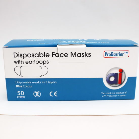 Wholesale Comfortable Disposable Three-Layer Mask Non Woven Face Mask Factory Outlet Bfe 95%