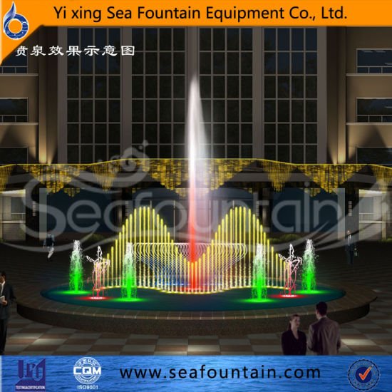 LED Lighting Music Dancing Floor Dry Fountain pictures & photos