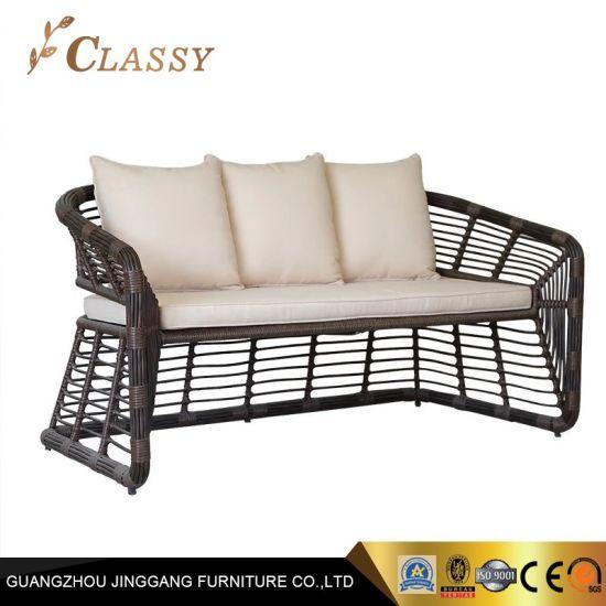Modern Design Outdoor Rattan Sofa Set with Comfortable Cushion