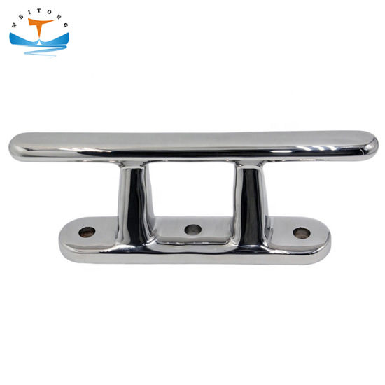 Boat Mooring Cleat Single Cross Bollard 316 Marine Stainless Steel Polished