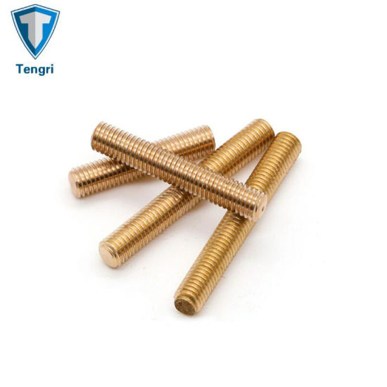 Yellow Zinc Plated High Quality Stud Bolt and Nut