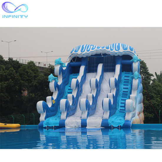 Hot Sale Biggest Outdoor Slide Inflatable Water Slide with Big Pool for Commercial pictures & photos