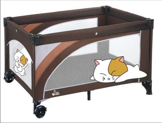 New Design Portable Folding Baby Playpen European Standard Travel Cot pictures & photos