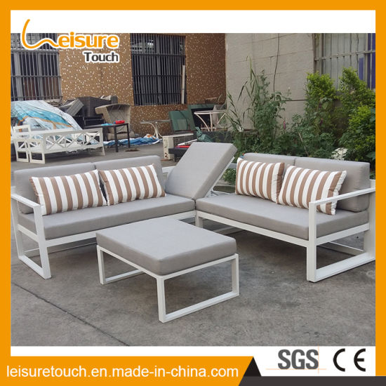 China Modern Leisure Aluminum Corner Sofa Set Garden Table