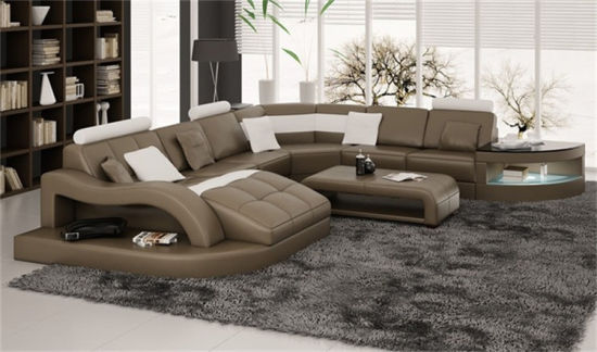 Home Furniture Red New Design Living Room Leather Sofa (HC1100) pictures & photos