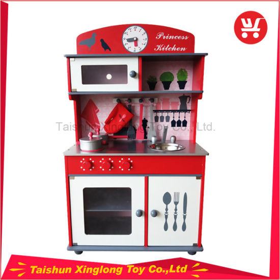The Children′s Favorite Red Birdie Wooden Kitchen Toy Play House pictures & photos