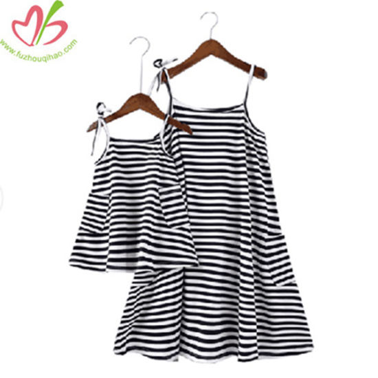 Fashion Summer Family Suit Mommy and Me Dress
