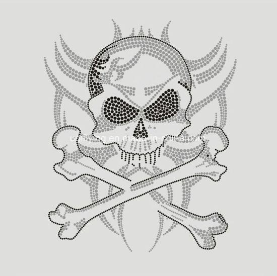 Special Custom Skull Hotfix Rhinestone Transfer Motifs