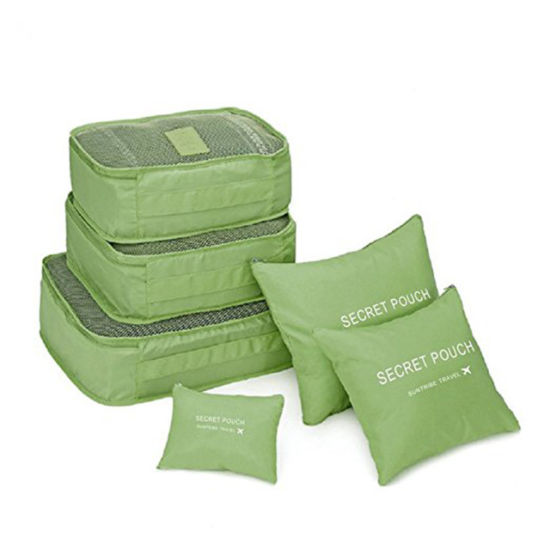 Waterproof Storage Clothes Organizer Bags Packing Pouch Cube Travel Luggage 6Pcs