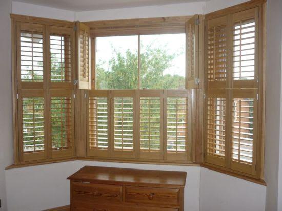Custom Plantation Shutters Kitchen Window Blinds Wooden Window Shutters  Interior