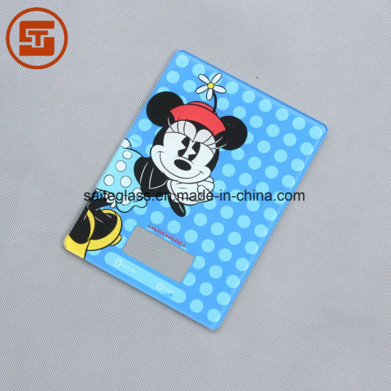 OEM Silk Printing Bathroom Electronic Baby Body Fat Weighing Scale Tempered Glass Panel