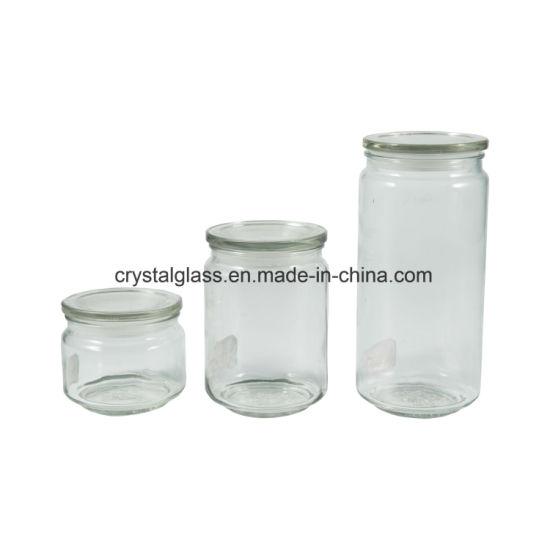 Cookie, Nut, Milk Powder, Baby Food Storage Glass Jars with Airtight Glass Cap
