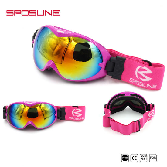 55e1a46b6341 Custom Logo Brands Snowboard Racing Goggle Mens Womens Mirrored Lenses Anti  UV Ski Motorcycle Safety Goggles