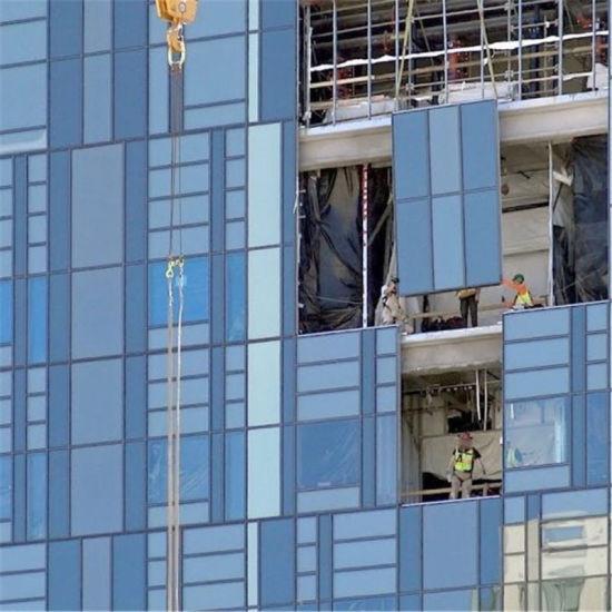Aluminium Glass Unitized Curtain Wall System Stick Frame Semi Untised Glazed Facade Building Panel Design Installation Price