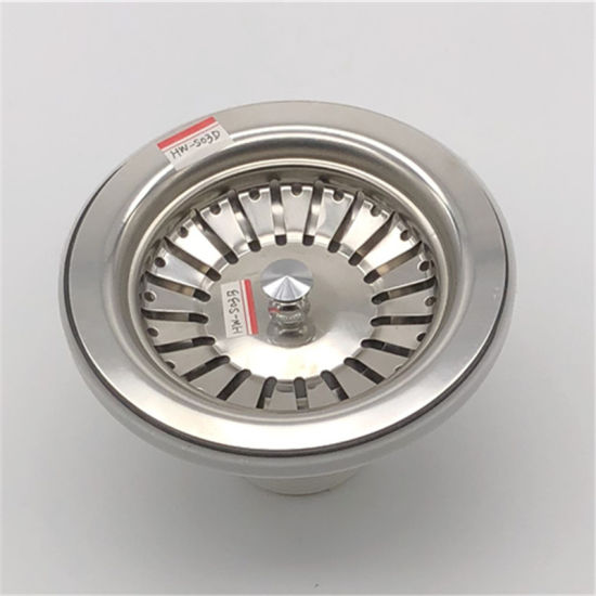 Ss Mirror Polished Kitchen Sink Strainer Machining Stamping pictures & photos