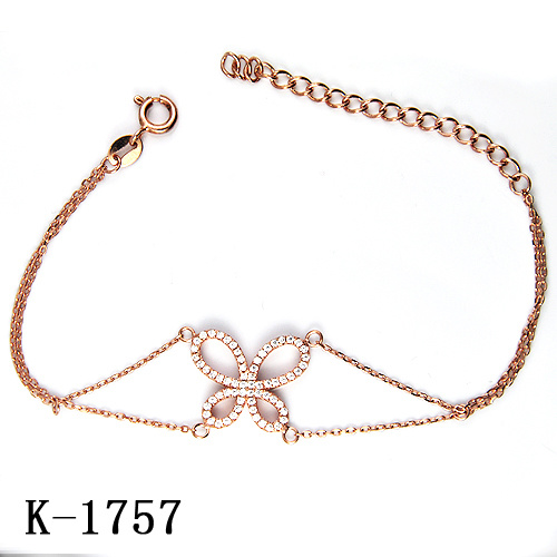 China New Model 925 Silver Bracelet Jewelry With Factory Price Rose