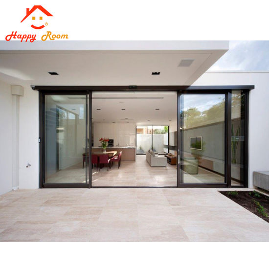 China Sound Proof Office Aluminiumaluminum Glass Double Entry Doors
