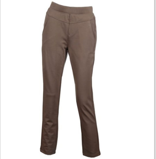 Wholesale High Quality Polyester Women Slim Straight Trousers