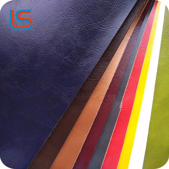 Colorful Oily Surface PVC Synthetic Artificial Leather for Sofa, Furniture, Car Seat, Home Textile, Shoes, Bag