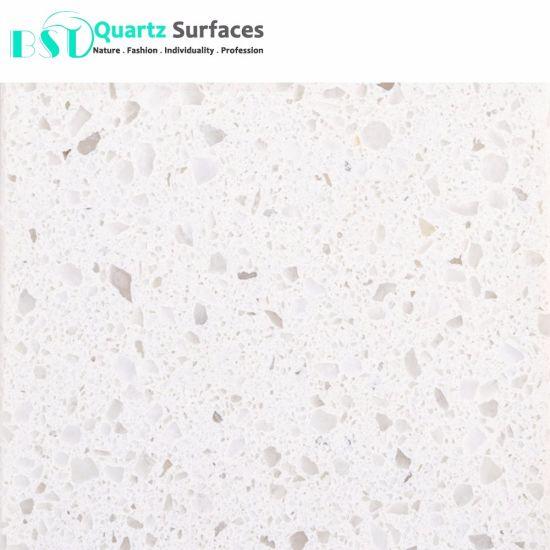 China White Sand Quartz Stone For Restaurant Table Top China White
