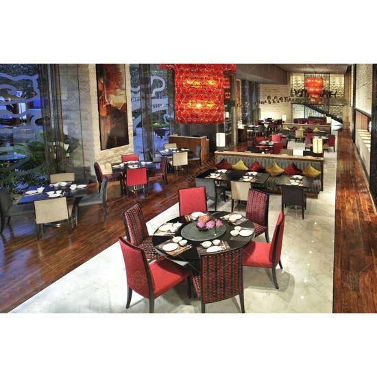 Wooden Simple Design Dining Table Set for Restaurant Furniture