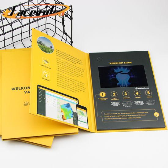 Facevideo LCD Screen Video Folder Greeting Card Folder in Print Brochure
