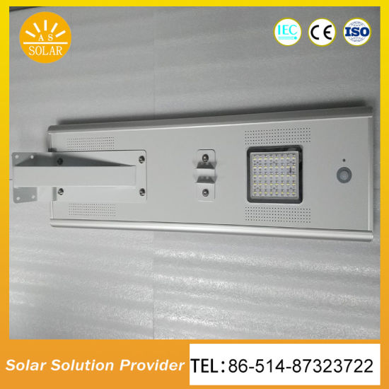 12W All in One Solar Street Light with Inside Controller and Lithium Iron Battery