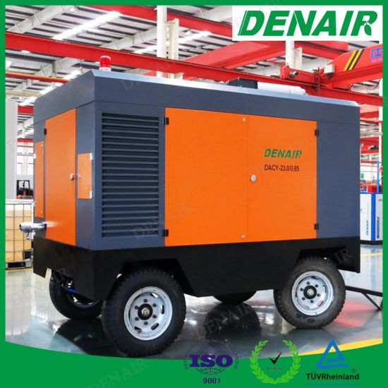 Industrial High Pressure Diesel Engine Driven Portable Rotary Screw Type Air Compressor pictures & photos