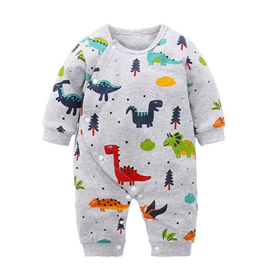 c1c4b0db94 Baby Boys and Girls Cartoon Dinosaurs 100% Cotton Baby Clothes Romper  Bodysuit