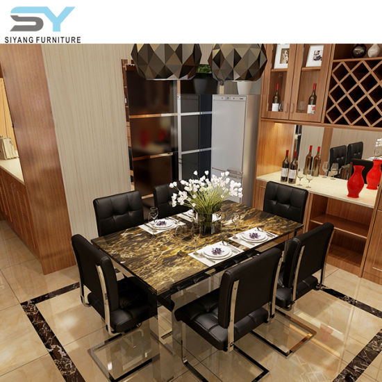 Furniture Interior Dining Set Louis Table Marble Dining Table