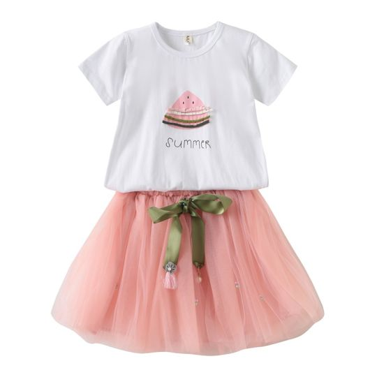 China Factory Baby Girl Clothes Children T Shirt Dress Set pictures & photos