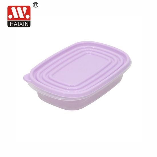 Large Rectangle Microwavable Clear Recycled Plastic Kitchen Food Packaging Plastic Food Container with for Kitchenware Storage Box