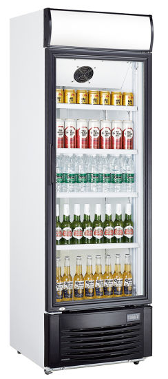 Beer Soft Drink Showcase Beverage Upright Cooler Tempered Glass Single Door with Ce RoHS ETL Meps (LG-300F)