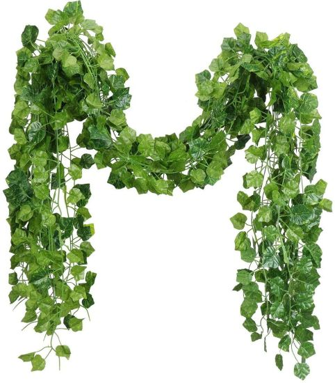 Artificial IVY Leaf Plants for IVY Wall House Room, Indoor Greeny Chain for Wedding Wall Decorative