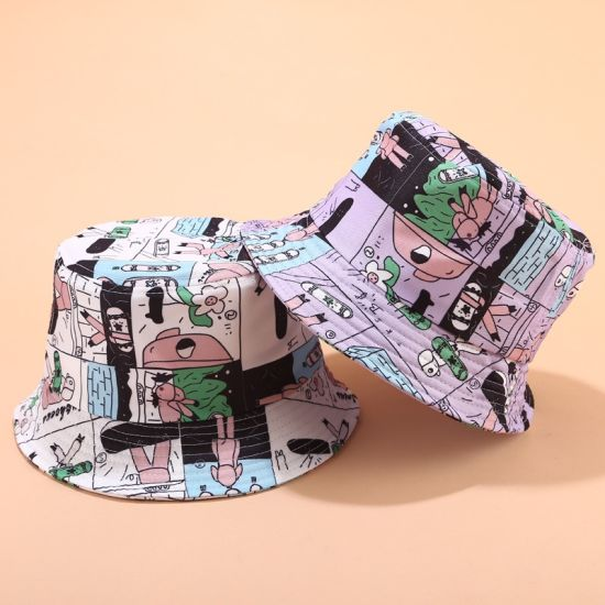 Custom Wholesale Fashion Unisex Summer Outdoor Travel Vacation Printing Basin Bucket Hat Leisure Cap pictures & photos