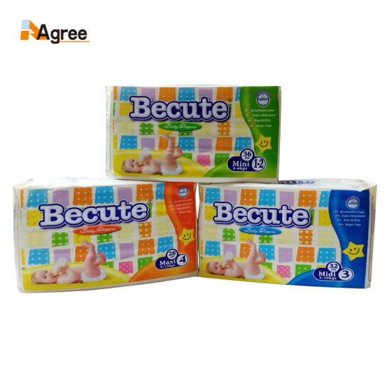 Manufacturer Breathable Soft Cotton Sleepy Disposable Baby Diaper