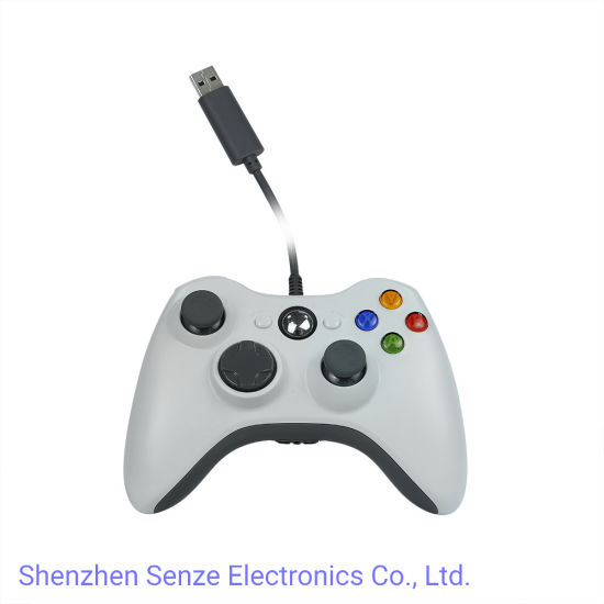 Wired White Color Game Controller for xBox360/PC