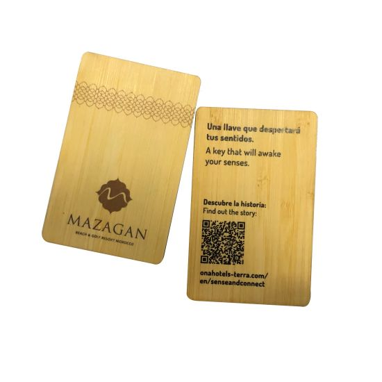 Plywood/Bamboo/Solid Wood Material Cards That Can Be Customized with Patterns and Shapes