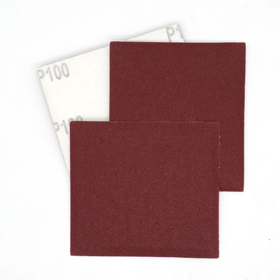 110X100mm Hook and Loop 40 to 1200 Grits Red Aluminum Oxide Sandpaper for Polishing