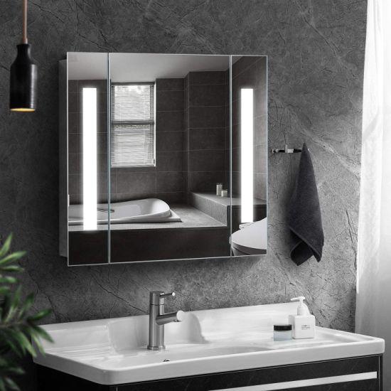 China Home Hotel Led Mirror Medicine, Lighted Bathroom Mirror Cabinet