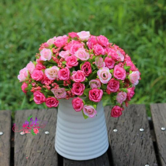 Wholesale Real Touch Artificial Flower Bouquet Rose for Wedding Decoration