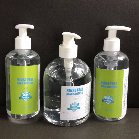 75% Wash-Free Alcohol Disinfection Instant Hand Sanitizer Hand Wash Gel with Pump Bottle