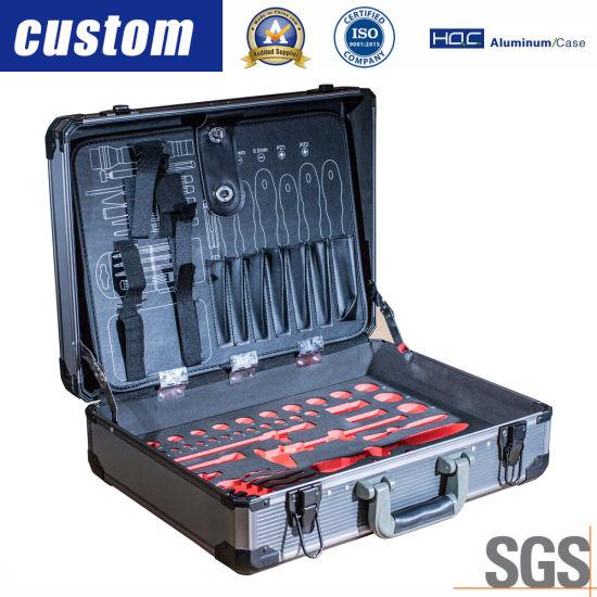 Aluminum Hardware Tool Set Travel Guitar Hard Case&Box for Equipment Instrument
