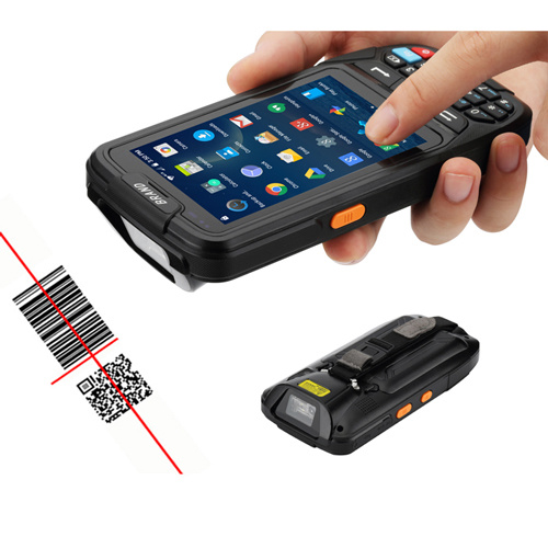 1d 2D Qr Code Reader Android Laser PDA Touch Screen Handheld Barcode Scanner