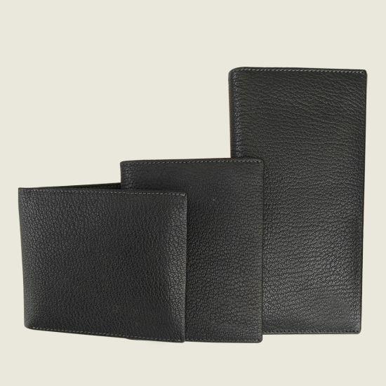 Men Genuine Leather Purse Cowhide Wallet Gift Set