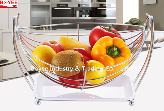 Hot Tabletop Metal Wire Kitchen Vegetable Holder Fruit Rack