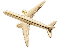 China BSCI Factory OEM 3D Aircraft Gold Finish Metal Craft Airplane Badge Lapel Pin (176)