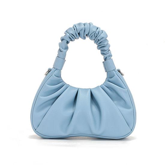 2020 New Fashion Trend Soft Genuine Leather Underarm Ladies Cloud Handbags